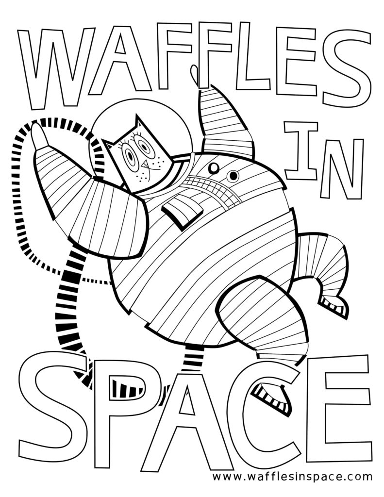 Waffles in Space coloring page